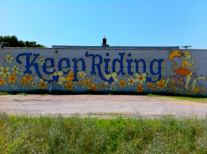 'Keep Riding' street art courtesy of http://cycletc.com/