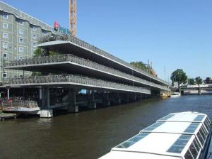Multi-storey cycle storage at a Dutch station