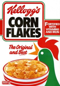 Vintage cornflakes box
