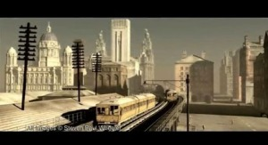 Screen grab from Liverpool Overhead Railway animation c Steven Wheeler