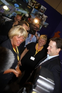 Nick Clegg being photographed at Lib Dem party conference