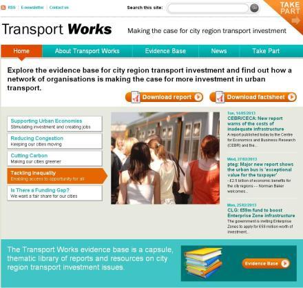 Transport Works website screen shot