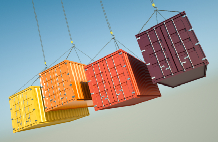 Freight containers being lifted. Picture: www.istockphoto.com