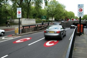Cars entering congestion charging zone (c )Transport for London