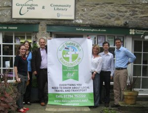 The pteg team outside the Grassington Hub