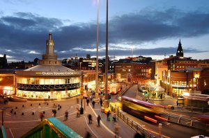 Evening city scene - Liverpool