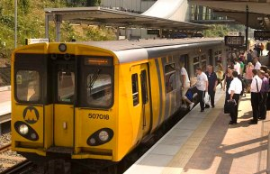 Merseyrail train at station