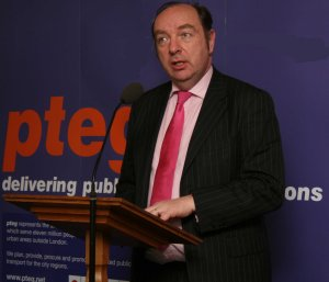 Norman Baker MP speaking at a pteg event