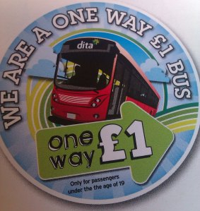 The 'One Way £1' logo