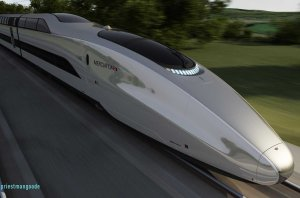Design for a high speed train by Priestmangoode