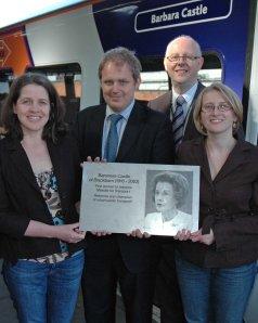 2008 pteg Support Unit team at Barbara Castle train naming