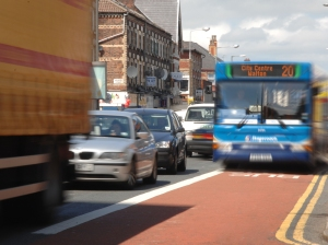 Bus to Walton in bus lane