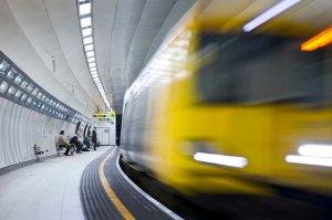 Merseyrail train at station