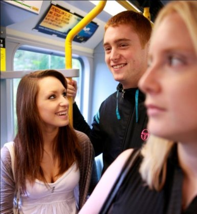 Young people on Metro